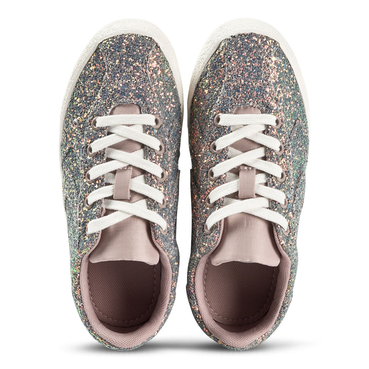 e4150cc9 Hummel Shadow Grey Diamant Glitter Junior Trainers | AlexandAlexa