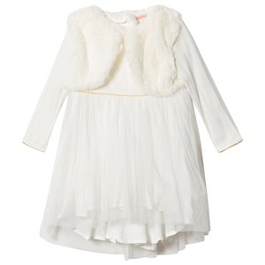 BILLIEBLUSH | Billieblush Billieblush Cream Tulle Dress With Attached Gilet 4 Years | Goxip