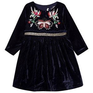 BILLIEBLUSH | Billieblush Billieblush Navy Velvet Dress With Embroidered And Sequin Detail 8 Years | Goxip