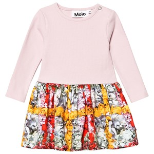 MOLO | Molo Pink Carel Checked Flowers Dress 92 Cm (1,5-2 Years) | Goxip