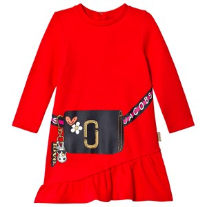 LITTLE MARC JACOBS | Little Marc Jacobs Red Handbag Print Frill Hem Dress 6 Months | Goxip