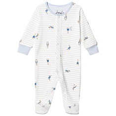 809cd68948a Blue Striped Peter Rabbit Footed Baby Body