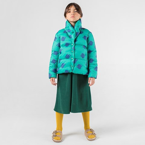 Bobo Choses Peppergreen All Over Big Saturn Planet Padded Jacket