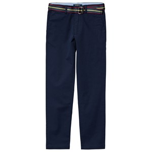 RALPH LAUREN NAVY BELTED CHINOS