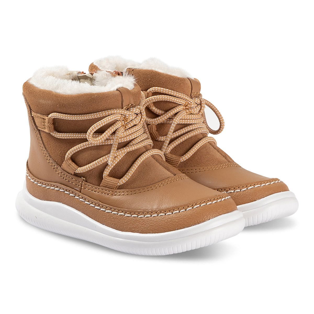 Clarks Tan Alpine Lace Up Boots