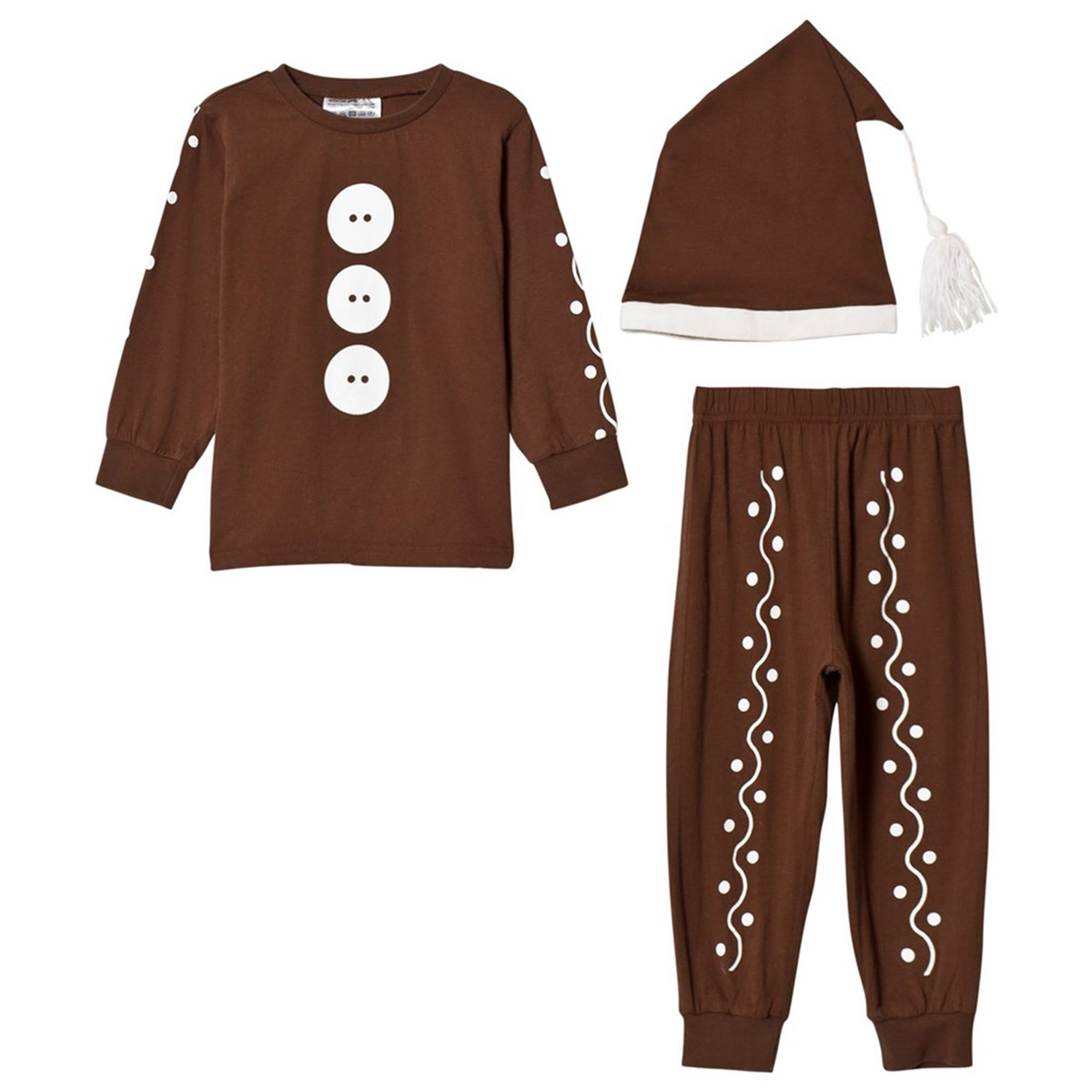 Christmas Kids Pack of 3 Brown Gingerbread Clothing Set