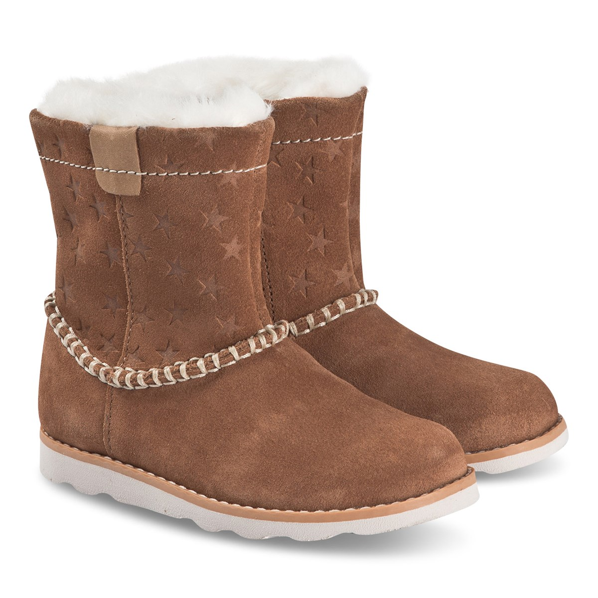 Clarks Tan Suede Crown Piper Star Boots