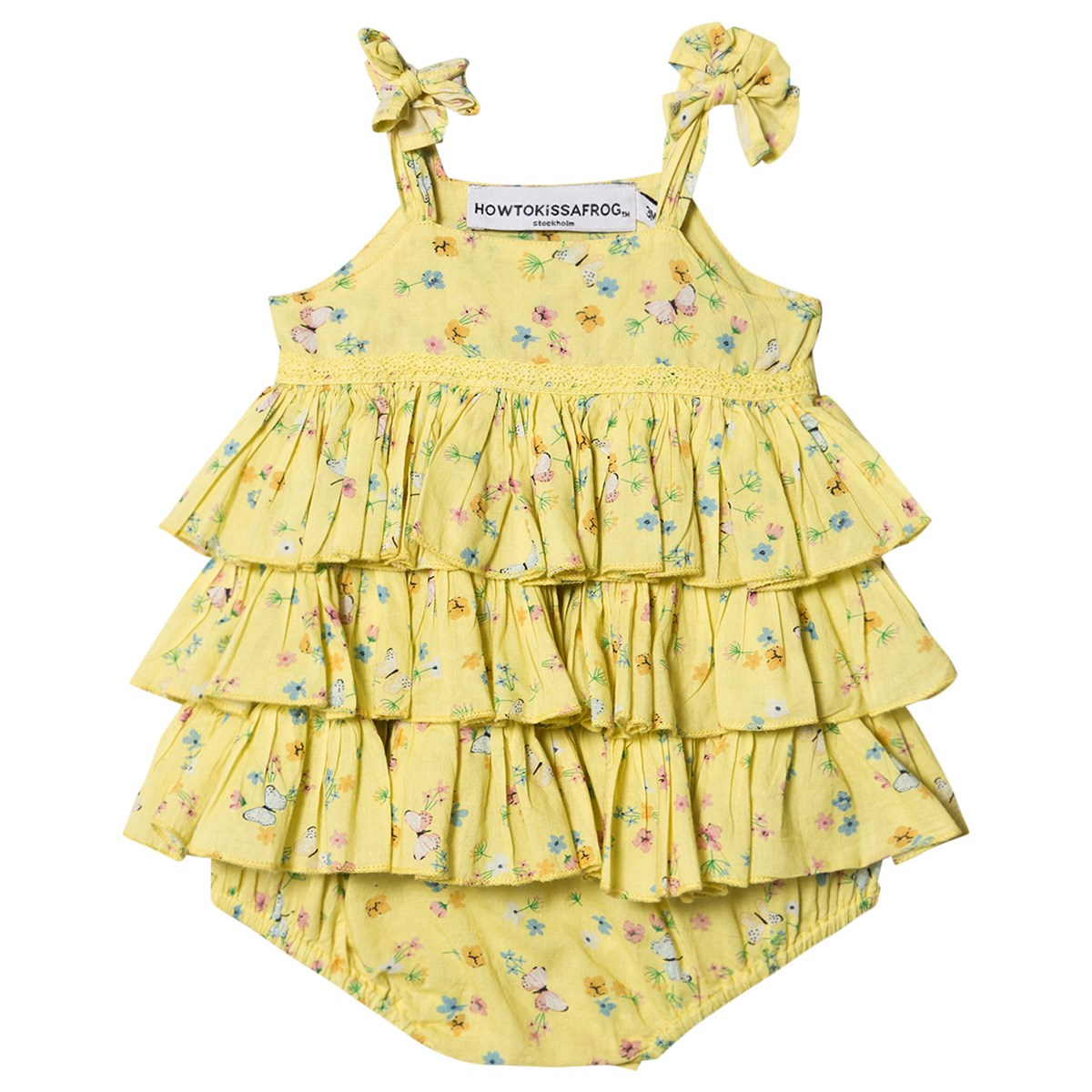 How To Kiss A Frog Yellow Field Floral Print Ruffle Tiara