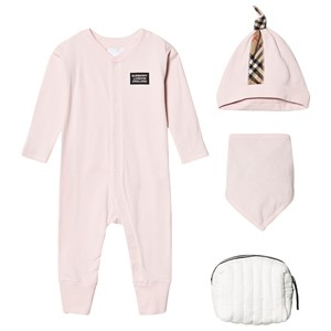 Burberry Babies'  Pink Check Layette Set