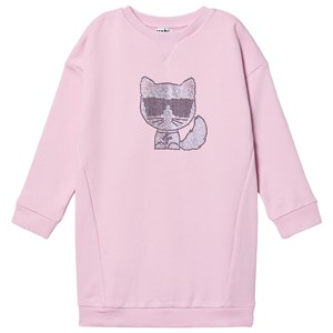 KARL LAGERFELD KARL LAGERFELD KIDS PINK CHOUPETTE DRESS