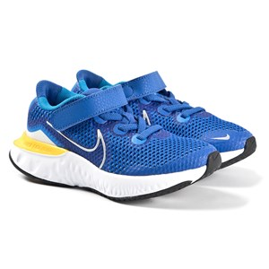 Nike BLUE RENEW RUN KIDS TRAINERS