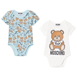 Moschino Clothing 2-PACK PALE BLUE BEAR BABY BODY