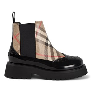 BURBERRY BLACK MINI DOUG BOOTS