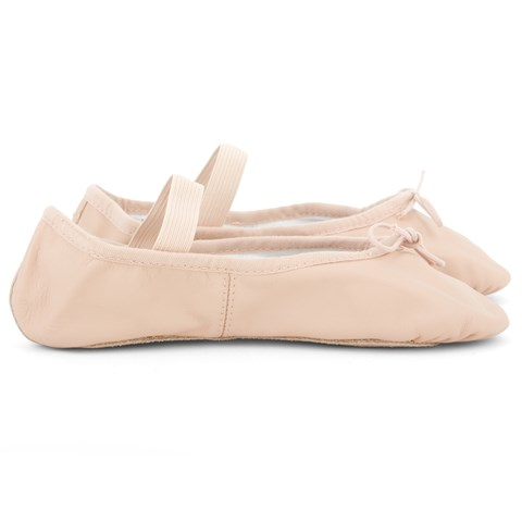 Bloch Dansoft ballet flats with elasticated strap