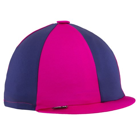 Cerise and Navy Helmet Cover
