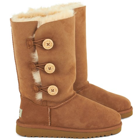 UGG Brown Bailey Button Boot
