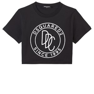 Dsquared2 T-shirts BLACK BRANDED T-SHIRT