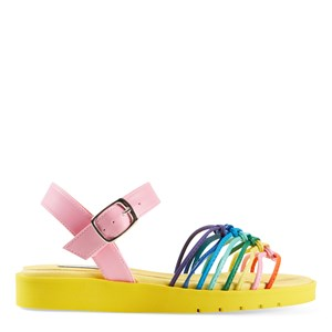 Stella Mccartney YELLOW MULTICOLOR KNOTTED SANDALS