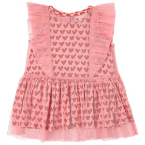 Stella Mccartney PINK HEART PRINT DRESS