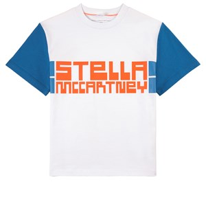 Stella Mccartney WHITE STELLA PRINT SPORT T-SHIRT
