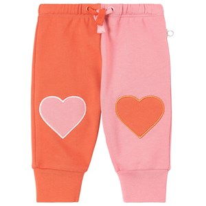 Stella Mccartney PINK AND RED HEART PATCH SWEATPANTS