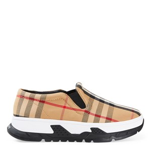 Burberry Slip-ons ARCHIVE BEIGE BETTY CHECK TRAINERS