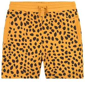 Stella Mccartney Shorts ORANGE CHEETAH DOTS PRINT SHORTS