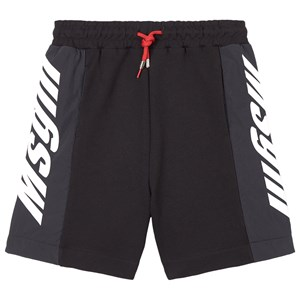Msgm BLACK MSGM NYLON AND SWEAT SHORTS
