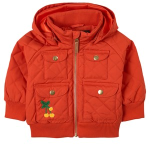 Mini Rodini RED CHERRY EMBROIDERY JACKET
