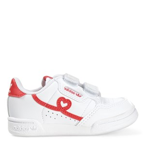 Adidas Originals WHITE HEARTS CONTINENTAL 80 TRAINERS