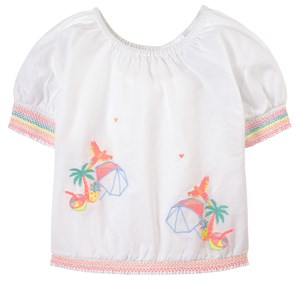 Billieblush WHITE EMBROIDERED TOP