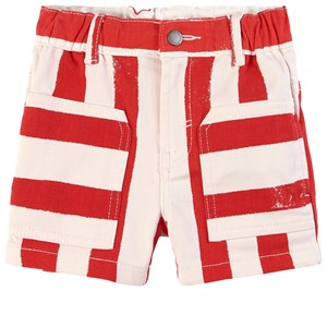 Stella Mccartney RED STRIPED DENIM SHORTS