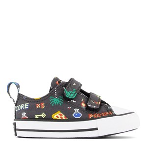 Converse GREY GAMER CHUCK TAYLOR ALL STAR 2V INFANTS OX TRAINERS