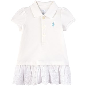 Ralph Lauren White Eyelet Embroidery Polo Dress 6 months