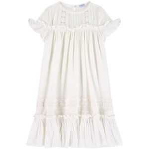 Mayoral Dresses WHITE TIERED DRESS