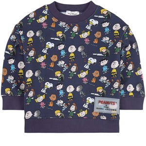 The Marc Jacobs THE MARC JACOBS NAVY PEANUTS X THE MARC JACOBS PRINT SWEATSHIRT