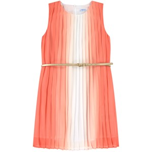 Mayoral Dresses PINK OMBRE PLEATED DRESS