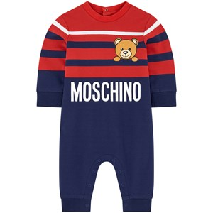 Moschino Jumpsuits RED BEAR LOGO PRINT ONE-PIECE