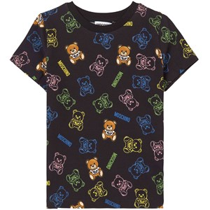 Moschino MOSCHINO BLACK ALL OVER BEAR PRINT T-SHIRT