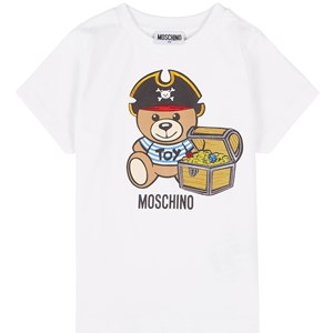 Moschino MOSCHINO WHITE PIRATE BEAR PRINT T-SHIRT