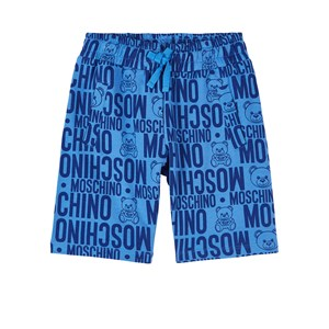 Moschino MOSCHINO BLUE BRANDED SWEATPANTS