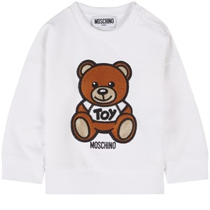 Moschino WHITE BEAR SWEATSHIRT