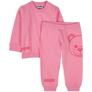 Moschino PINK BEAR PRINT TRACKSUIT