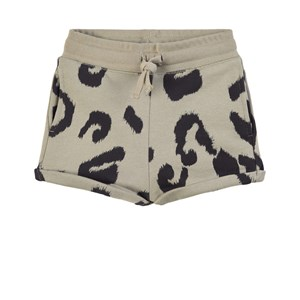Stella Mccartney GREY LEOPARD SWEAT SHORTS