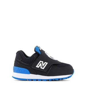 New Balance Shoes BLACK & NAVY FOOTBALL PRINT VELCRO TRAINERS