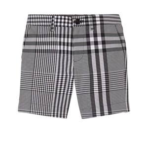 Burberry Cottons BURBERRY BLACK CHECKED SHORTS