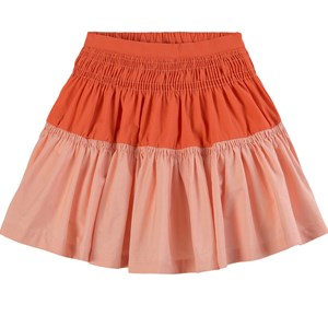 The Middle Daughter THE MIDDLE DAUGHTER GATHER AROUND COTTON POPLIN SKIRT CALAMINE & KOI