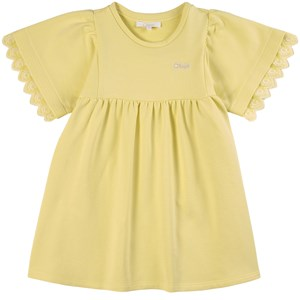 Chloé CHLOÉ YELLOW LOGO DRESS