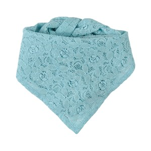 Oii Blue Gunilla Lace Scarf One Size