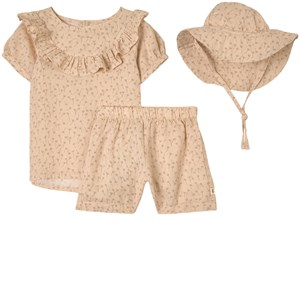 Buddy & Hope Sand Dandelion Dress Set In Beige
